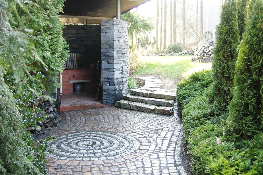 Naturstein pflasterarbeiten landschaftsbau nickel for Garteneingang gestalten